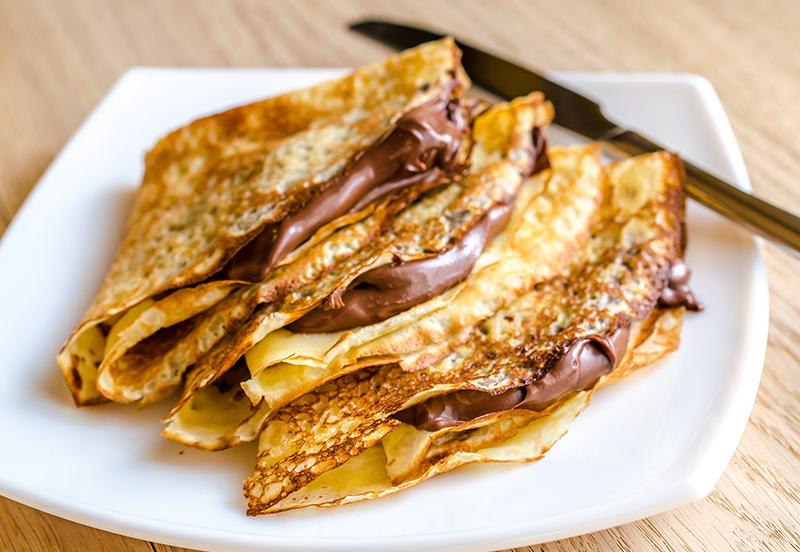 Crepas De Jamón Queso Crema Y Chocolate